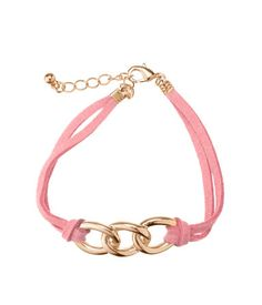 Chain and Suede Bracelet