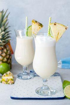 Frozen Pina Colada, Virgin Pina Colada, Coconut Drinks, Coconut Rum, Frozen Pineapple, Pineapple Coconut, Perfect Pina Colada Recipe, Apple Fritter Bread, Lassi Recipes