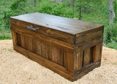 Chest With Lock/ Hope Chest/ Wooden Trunk/ Coffee Table/ Storage/ Padlock |  Boxes / Chests | Pinterest | Wooden Chest, Hope Chest And Wooden Trunks