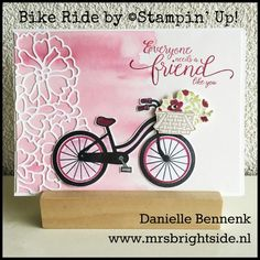 Project I made with Bike Ride stamp set for Main Stage presentation during On Stage Live - Danielle Bennenk www.mrsbrightside.nl
