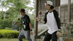 Kuma Films (previously) has a new video highlighting performing duo Zoomadanke, who execute some impressive feats of acrobatic juggling using a kendama, a traditional ball and string toy from Japan...
