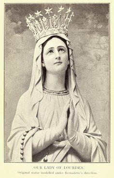 Bernadette Lourdes, Santa Bernadette, Catholic Art, Catholic Saints, Religious Art, Religious Pictures, Jesus Pictures, Blessed Mother Mary, Blessed Virgin Mary