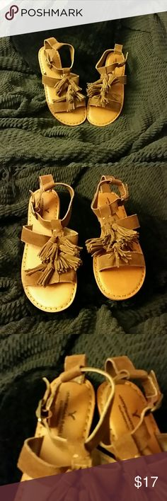 American Eagle Sandal NWOT! Summer Ready:-) American Eagle Brown Fringe Super Cute Size 6 and(SIZE 8  SOLD) . .Super Comfortable and Boho-Chic; -) American Eagle Outfitters Shoes Sandals