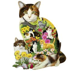 Calico Cat 750 Piece Shaped Jigsaw Puzzle