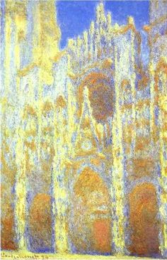 The Rouen Cathedral at Twilight, Oil by Claude Monet (1840-1926, France)
