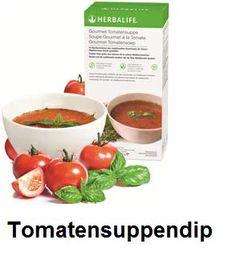 Tomatensuppendip, kalt serviert in der warmen Jahreszeit - ein echter Genuss Wellness, Herbalife, Cantaloupe, Fruit, Board, Cold, Healthy Recipes, Health, Planks