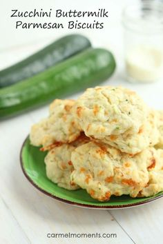 Zucchini Buttermilk Parmesan Biscuits | http://gatherforbread.com