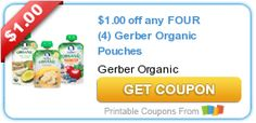 Tri Cities On A Dime: SAVE $1.00 ON ANY 4 GERBER ORGANIC POUCHES