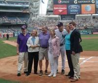 Pat Summitt helps the New York Yankees launch Worldwide Alzheimer's AwarenessMonth