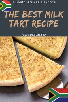 This milk tart recipe is so quick to make. This recipe will show you step by step how to make a milk tart. Even though it sets almost as soon as you Shortbread Recipes, Tart Recipes, Dessert Recipes, Cooking Recipes, Tart Cups Recipe, Clafoutis Recipes, Curry Recipes, Milktart Recipe, African Dessert