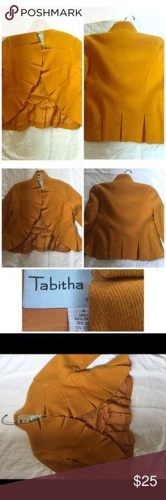 Tabitha vintage jacket Beautiful vintage jacket. Like new. Tabitha, size 4. Fits remarkable. Very flattering! Mustard color. Sleeves hit 3/4, elbow length. Jackets & Coats
