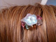 Small Flower Hair Comb Handmade Beaded by SDJ2012 on Etsy