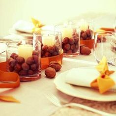 Cheap, easy Thanksgiving centerpieces