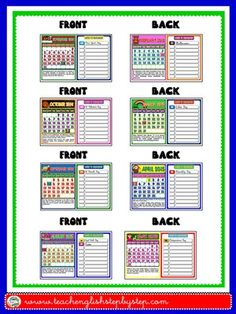This mini pack contains: - 1 set of Calendars to display in the classroom, with reference to important holidays and celebrations + blank spaces to write other important dates, such as students. Student Calendar, Classroom Calendar, School Calendar, Calendar 2019 And 2020, Calendar 2014, Student Birthdays, Important Dates, Teaching English, Booklet