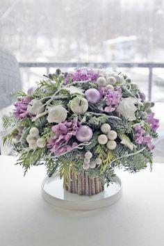 Make-Up Art Weihnachten - Gif Life Purple Christmas, Christmas Flowers, Winter Flowers, Christmas Wreaths, Christmas Crafts, Advent Wreaths, Christmas Flower Arrangements, Christmas Centerpieces, Floral Arrangements