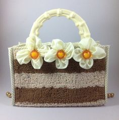 Handmade Three Flowers Handbag by keetaneran on Etsy, $20.00