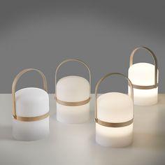 Lampa stołowa La Forma Janvir   Bonami Lampe Led, Led Lamp, Modern Lighting, Lighting Design, Woman Cave, L And Light, Wooden Handles, Montage, Flashlight
