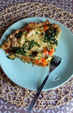 SANS GLUTEN SANS LACTOSE: Tarte aux légumes sans gluten et sans lactose