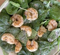 Sauteed shrimp salad - HCG Recipe