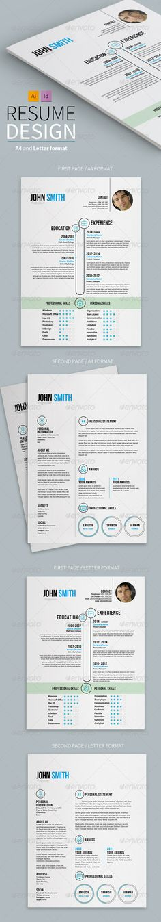Clean One Page Resume Template PSD Download here http - clean resume design