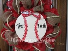 deco mesh ribbon wreaths - Bing Images - Click image to find more Other Pinterest pins