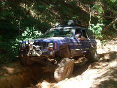 Jeep Cherokee XJ hitting the trails