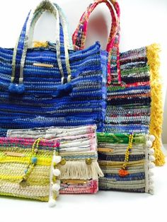 HIP GREECE | Fashion | The Kooreloo Project Greece Fashion, Diy Sac, Boho Bags, Fabric Bags, Fabric Basket, Patchwork Bags, Knitted Bags, Handmade Bags, Purses And Handbags