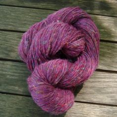 Wool and Recycled Silk yarn - Dark Purple 05 on Etsy, $6.75