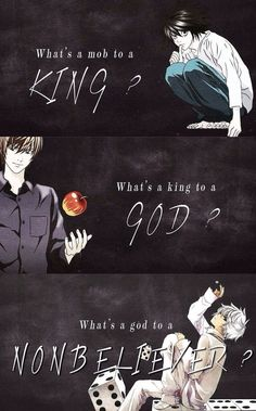 Deathnote :) I don't remember this quote...is it from somewhere/someone else...? -p.a.