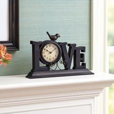 Show your family that they are loved with the BHG Love Mantle Clock.