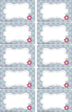 BORDERS FOR KID: Tarjetas Organizadoras Escolares