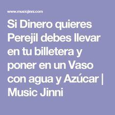 Si Dinero quieres Perejil debes llevar en tu billetera y poner en un Vaso con agua y Azúcar | Music Jinni