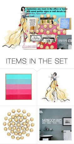 """Customize any room in the office or home with wood quotes signs or wall decals by:"" by andreadesigns1 ❤ liked on Polyvore featuring art"
