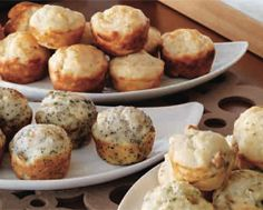 Savoury Muffins - Parmesan & Garlic, Herb & Seed, and Walnut & Rosemary