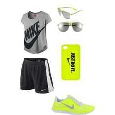 My Nike Outfit(: by pliziabishop on Polyvore featuring NIKE