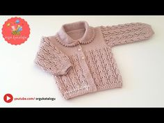 #82 LALE BEBEK HIRKA MODELİ - Örgü kolay bebek yelek modelleri ve yapılışı / Knitted baby cardigan - YouTube Baby Knitting Patterns, Baby Hats Knitting, Knitting For Kids, Knitted Hats, Easy Crochet Headbands, Crochet Headband Pattern, Knitted Baby Cardigan, Knit Crochet, Baby Kids