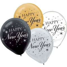 Check out Happy New Year 12 Latex Balloons - Themed Balloons Balloons at Birthday in a Box from Birthday In A Box Happy New Year 2015, Happy Year, Clear Balloons, Latex Balloons, Christmas Ad, Christmas And New Year, Xmas, New Years Eve Pictures, Cookie Party Favors
