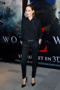 angelina jolie all-black outfit