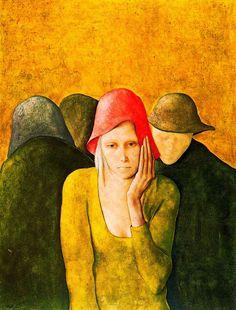 Figura femenina y tiesto con hiedra - Montserrat Gudiol