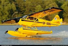 Husky on floats Bush Pilot, Amphibious Aircraft, Bush Plane, Float Plane, Private Plane, Flying Boat, Aircraft Photos, Hot Rides, Search And Rescue
