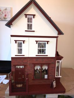 This has been designed on the Victorian era. The bricks to the front and sides are varsi brick slips and have been put on one by one, as to have the roof tiles. The side and front ground has been done using real miniature cobblestones. | eBay!