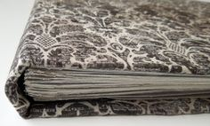 Hand-made book covered with Tim Holtz fabric Tim Holtz Fabric, Fabric Covered, Doodle, Books, Handmade, Scribble, Libros, Hand Made, Book