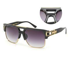 6cd3eb7295c Sunglasses Men Brand Vintage Oversize Square Sunglasses Women Clear Lens  Glasses UV400 xx465
