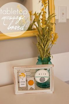 DIY Chicken Wire Message Board DIY Home Decor Crafts