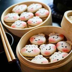 Cute Snacks, Cute Desserts, Cute Food, Delicious Desserts, Dessert Recipes, Yummy Food, Kawaii Cookies, Fancy Cookies, Cute Cookies