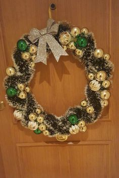 Looking for a fun Christmas craft? Why not make your own family wreath! Add bows, or bells, whatever you like - the options are endless! Pool Noodle Christmas Wreath, Christmas Wreaths, Christmas Crafts, Make Your Own, How To Make, Ornament Wreath, Activities For Kids, Bows, Holiday Decor