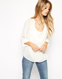 ASOS Top With Detail Front And Drape Neck 39.99