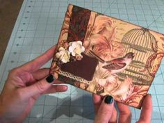 Card Made Using A Paper Napkin - YouTube