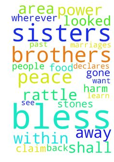 Thank You Jesus for all of our brothers and sisters - Thank You Jesus for all of our brothers and sisters in Christ Lord Jesus bless all of our brothers and sisters in Christ wherever they are in You. Bless them with work, bless them in their marriages, bless them with all areas of healing, bless them with food, clothing and shelter, bless them with all they need in You and more, bless them to learn more and more about You so that they can stand still in You and claim Your victories and see…