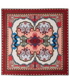 Etro Burgundy Paisley Print Silk Square Scarf | Silk Scarves by Etro | Liberty.co.uk